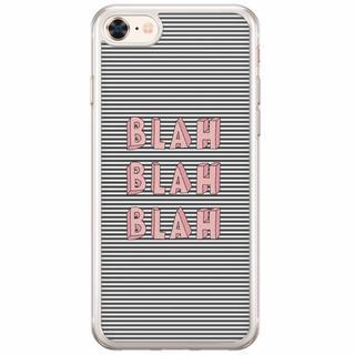 iPhone 8/7 siliconen hoesje - Blah blah blah