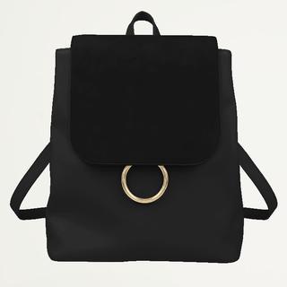 Zwarte rugzak met ring