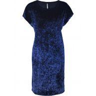 Dames jurk korte mouw in blauw - RAINBOW