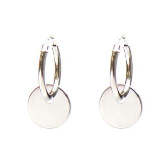 Hoops Symbols Discus Silver Oorbellen - Zilver