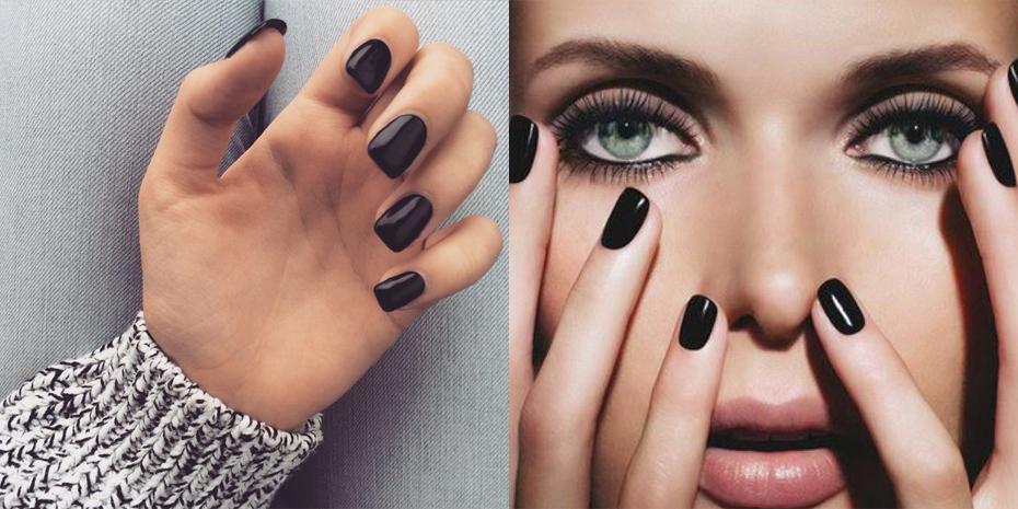 Zwarte nagellak