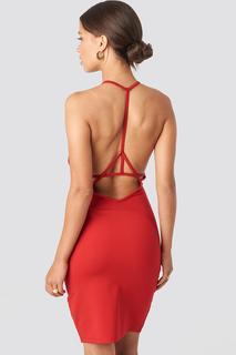 Deep Cross Back Dress