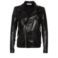Wanda Nylon BIKER JOHNNY Imitatieleren jas black
