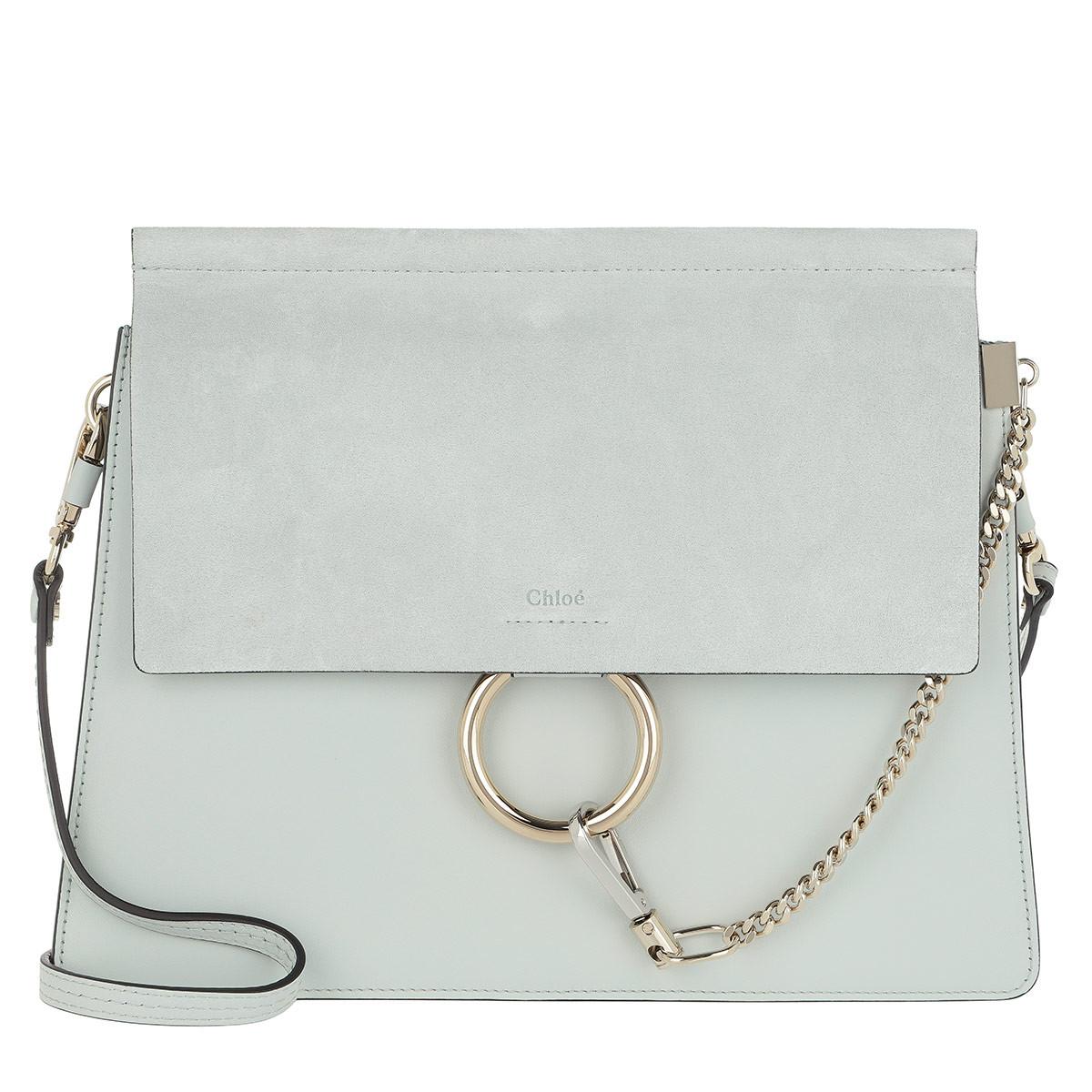 Laagste Prijs Goedkoop Online Chloé Tassen met handvat - Faye Tote Bag Suede Flap Airy Grey in blauw voor dames Collecties Te Koop Vg5CC71O