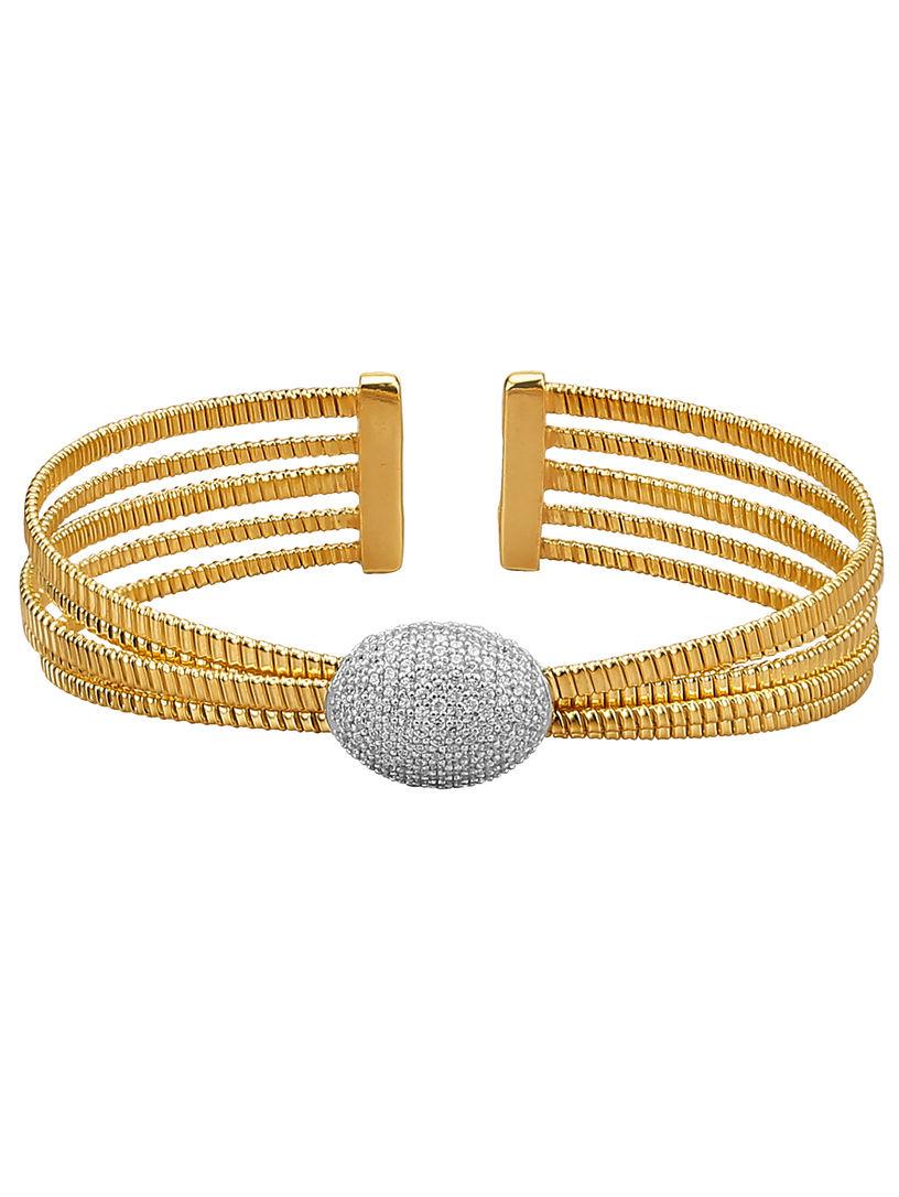 Diemer Silber 5-rijige armband bicolor Goedkope Koop Grootste Leverancier Sneakernews Online Te Koop Zlra5hks7