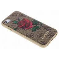 Rozen Design Bruin Lederen Hardcase voor de iPhone 8 / 7 / 6 / 6s