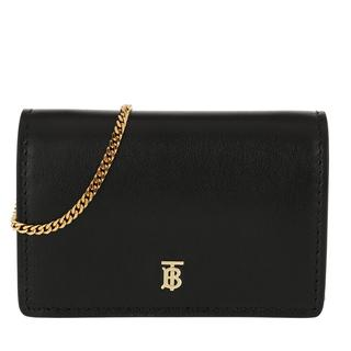 Cross Body Bags - Mini Chain Bag Leather Black in zwart voor dames
