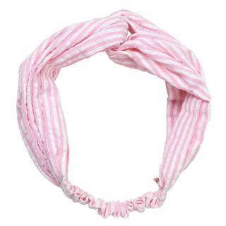 Haarband. Twist. Gestreept. Roze.