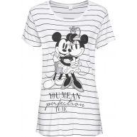 Dames shirt korte mouw in wit - Disney