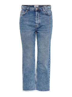 Onlroxy Hw Straight Fit Jeans Dames Blauw