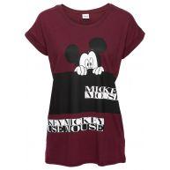 Dames shirt korte mouw in rood - Disney