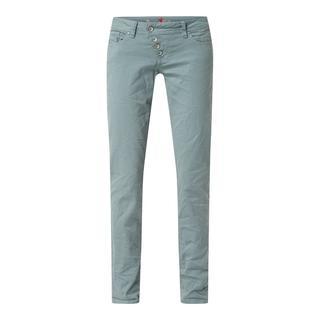 Jeans met smalle pasvorm en knoopsluiting