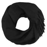 Oversized Knitted Scarf - Black
