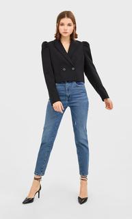 Slim mom jeans DAMES Donkerjeans 42