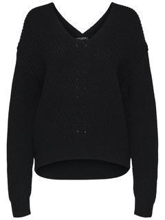 Grof Gebreide Zwarte Trui.Zwarte Gebreide Truien Online Kopen Fashionchick Nl