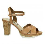 Tamaris Sandalen Cognac High Heel