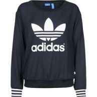 adidas Crepe Trefoil Crew W Sweater sweater blauw blauw