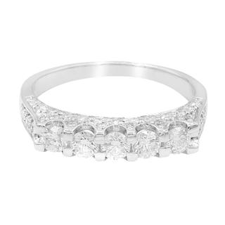Gouden ring met SI diamanten