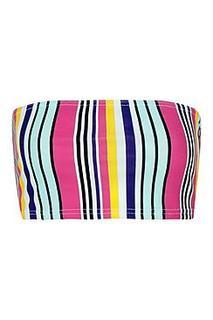 Petite Bold Stripe Bandeau Top