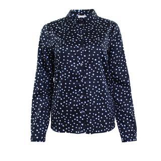 Milano blouse blauw stippen dessin