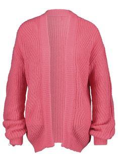 Damesvest Gebreid Roze (roze)
