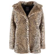 fake fur jas met panterprint