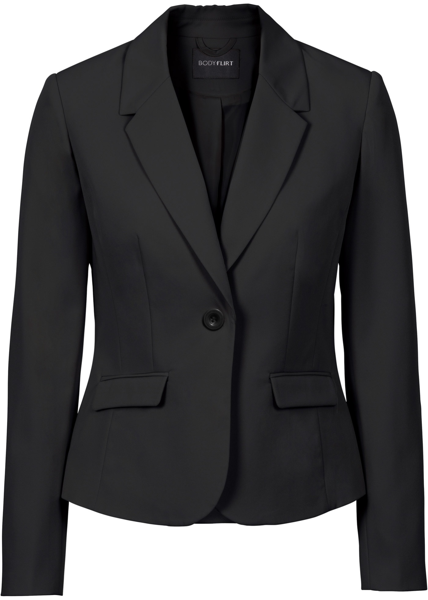Dames Lange Businessblazer In Mouw Zwart Bodyflirt NmnwO8v0