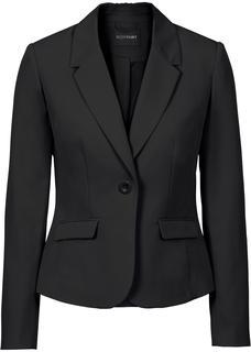 Dames businessblazer lange mouw in zwart