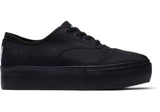 Zwarte Canvas Cordones Boardwalk Platform Sneakers Met Luipaardvoering Voor Dames Schoenen