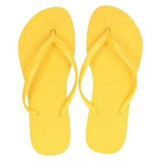 Slim slippers geel