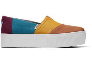 Gekleurde Canvas Platform Alpargata Boardwalk Voor Dames Schoenen in Multicolor