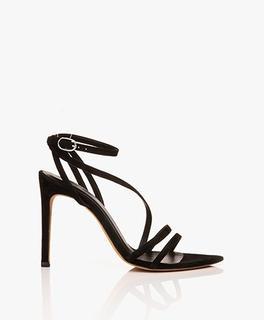 Romy Suède Strap Sandalen met Hak - Zwart