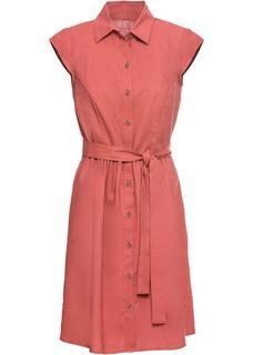 Dames jurk korte mouw in rood