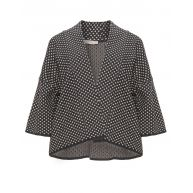 Polka dot jacquard cover-up