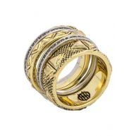 House of Harlow MESA STACK SET Ring gold/silver