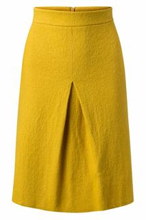 60s Finette Wool Skirt in Antique Moss