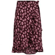 Pieces Maxi rok Female Rood