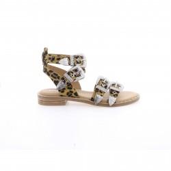 Leopardo Sandalo In Pelle