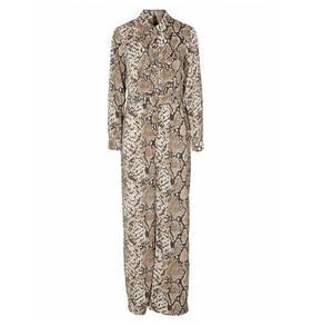 Lange jurk met slangenprint