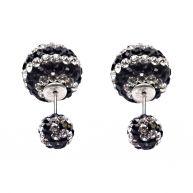 Karma Double Dots Crystal Zebra Oorbellen 11200