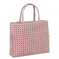 Rieten shopper van Becksondergaard, roze