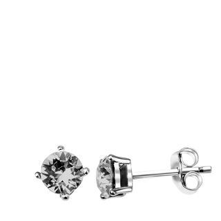 Zilveren oorbellen Swarovski Crystal blackdiamond