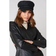 Rut&Circle Baker Boy Hat - Black