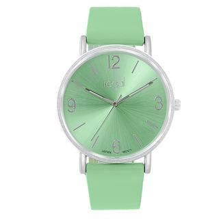 horloge Slimline met groene band