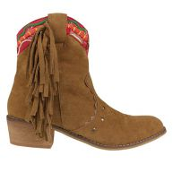 Fall Fringe Boots - Camel