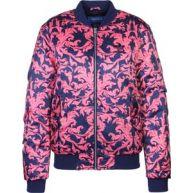 adidas Aop Satin Bomber W Winterjacken jas blauw roze blauw roze