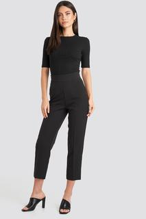High Waist Cropped Suit Pants
