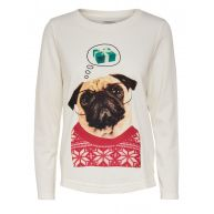 ONLY Kerst Sweatshirt Dames White