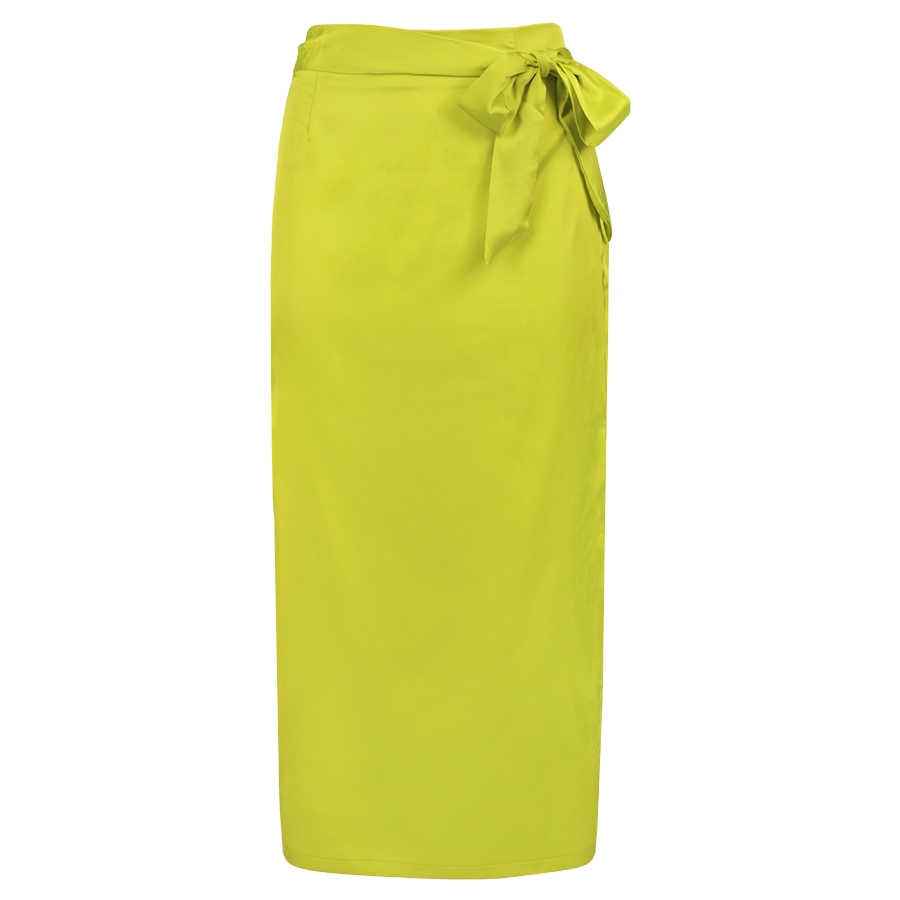 Midi Rok Jewellery Satijnen Lime My Groene 6vgbf7yY