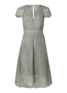 Arielle A-lijn jurk van kant met onderjurk